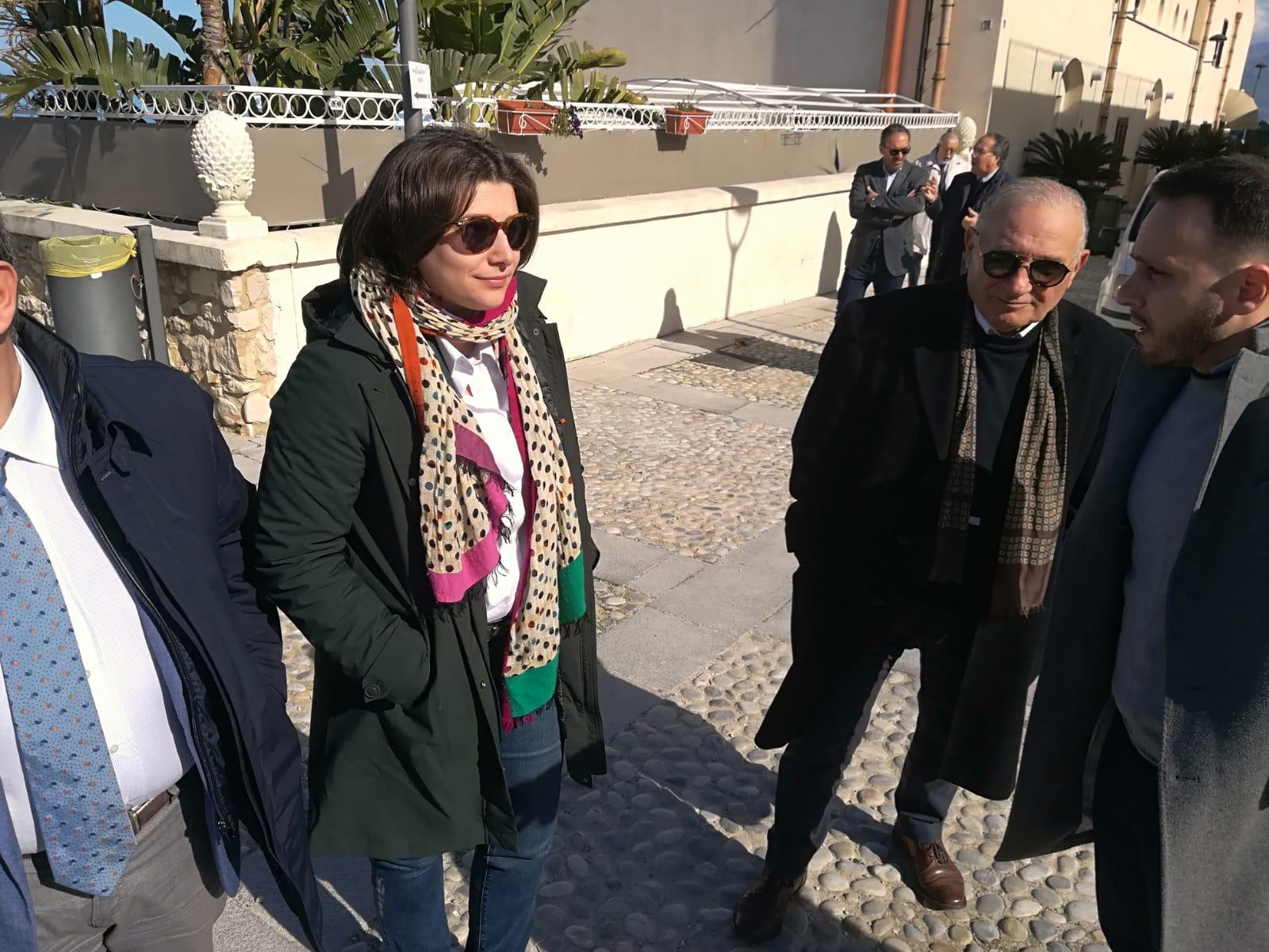 Carolina Varchi con il sindaco