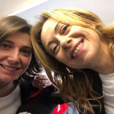 Carolina Varchi e Giorgia Meloni